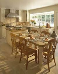 Kitchen Table island Combination Luxury Extended Kitchen island with Low  Table Connected