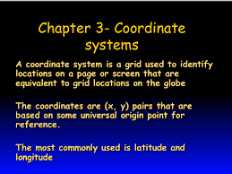 Powerpoint Presentation Chapter 11 Coordinate Systems