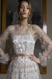 embroidered wedding dress. Camellia elegant two layered wedding dress features hand floral