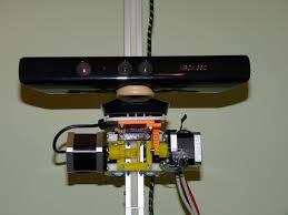 microsoft kinect for xbox sensor mounted on scanoman