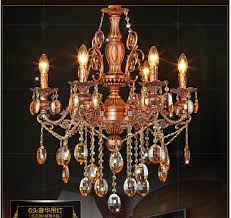 free shipping red color chandelier lights k9 crystals silver lamp copper brass light luxury antique copper chandelier lighting s33