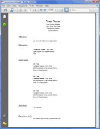 Sample Pdf Resume