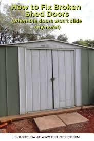 how to fix sliding garden shed doors