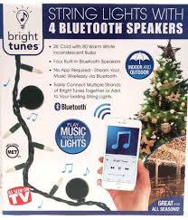Bluetooth Speaker String Lights Classy Bright Tunes String Lights With 32 Bluetooth Speakers 32 Foot Cord