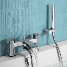 Modern Bathroom Taps Nelas Bath Shower Mixer Tap With Hand Held Shower Head Soakcom
