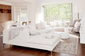 Cross Decor And Design White Sectional Transitional Living Room The Cross Decor Design 99