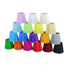 Dia 12cm Modern Lace Chandelier Lampshades White Black Pink Purple