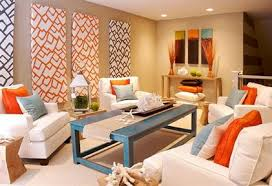 ... Orange Living Room Ideas Ivory Awesome Fabric Sofa Rectangle Black  Stained Wooden Table Unique Traditional Simple ... Home Design Ideas