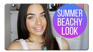 summer beach makeup look with cartia mallan