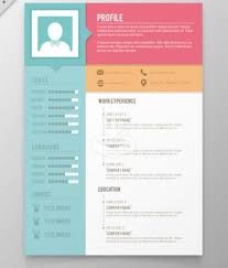 Colors resume template Free Vector