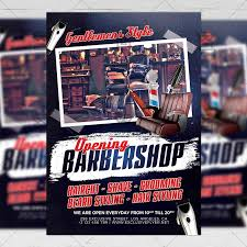 Now Open Flyer Template Barber Shop Opening Business A5 Flyer Template