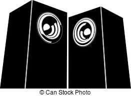 dj speakers clipart. sound-system speaker illustration icon in black and white dj speakers clipart c