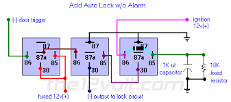 multiple wire power door lock systems Alarm Wiring Diagram For A Homemade For Auto Data 410 Car