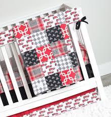 bedding cribs modern baby girl bunny textured black mini polka dots cotton tale fire truck crib