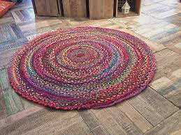 chindi rag rug for home decorating ideas beautiful wow fair trade shabby chic cotton braided multi
