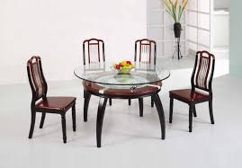 dining room round glass top table with additional shelf inside design 7
