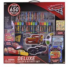 disney pixar cars 3 deluxe coloring and activity set