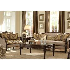 Michael Amini Living Room Furniture Villagio Wood Trim Sofa Set By Michael Amini 2 Pc D2d Furniture