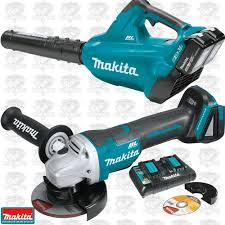 makita cordless grinder. makita xbu02ptx1 18v x2 lxt li-ion brushless cordless blower + angle grinder