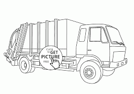 Small Picture Realistic Garbage Truck Coloring Page For Kids Transportation And