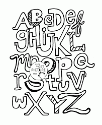 Small Picture Alphabet coloring pages for kids ABC Letters printables free