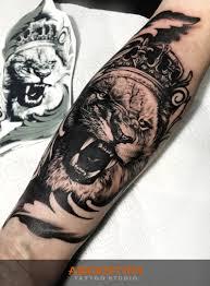 тату лев Lion Tattoo