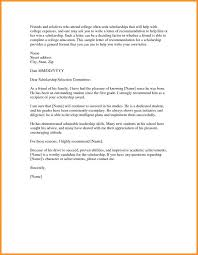 sample recommendation letter for scholarship from employer sample of scholarship recommendation 324937728939 free sample