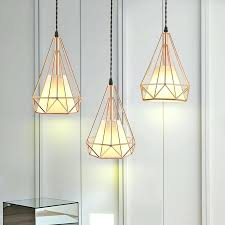 cage ceiling light modern plated rose gold diamond cage cord pendant ceiling light fixture metal cage cage ceiling light