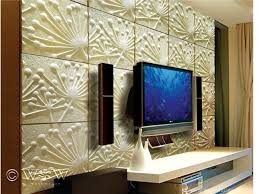 wall art ideas design packaging decorations 3d panels blue large display television modern yellow textured flowers