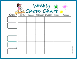 Weekly Family Schedule Template Household Budget Planner Uk House