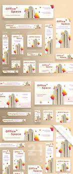 Office Banner Template Banners Pack Office Space Webbanners Posters Flyers