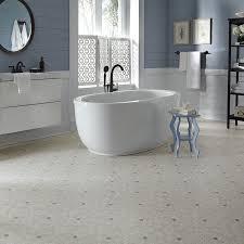 luxury vinyl flooring in bathroom