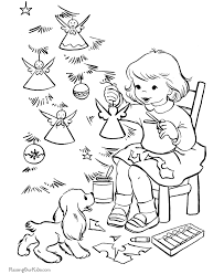 Small Picture Making Angel Christmas Tree Ornaments Coloring Pages