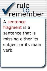 Sentence Fragments Complete Sentences Fragments Mr Fraihas 4th Grade E L A Website