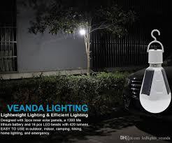 2019 Portable Solar Powered Led Tent Light Bulb 7w E27 Rechargeable