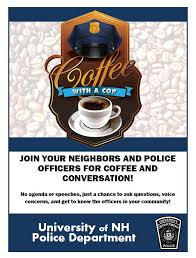 Coffee With A Cop Flyer Coffee With A Cop University Of New Hampshire