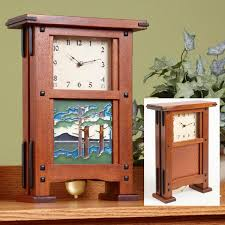 greene greene style clock woodworking plan gifts decorations clocks