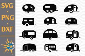 Please make sure that the software you use is compatible with an svg file. Camper Silhouette Svg Png Dxf Digital Files Include 758182 Cut Files Design Bundles