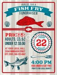 Fish Fry Fundraiser Template With A Nautical Theme There