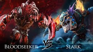 dota 2 slark vs bloodseeker one click battle youtube