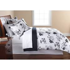 mainstays black and white fl bed in a bag comforter set red gray bedding com