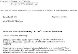 My Cfp Certification Examination Results Fppad