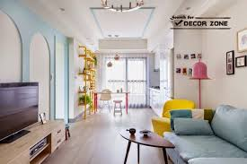 simple bedroom interior in colorful apartment design