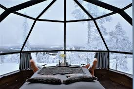 the good news is that you won t have to brave the arctic temperatures as the igloos are electrically heated and as the glass is non fogging staying warm