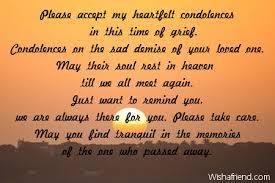 My Condolences Quotes Please Accept My Heartfelt Condolences In Sympathy Card Message 24