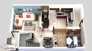 1 Bhk Layout Design 3d 1 Bhk Ground Floor Plan With Basic Furniture Layout