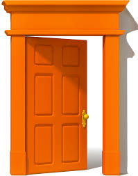 closed door clipart. Commendable Door Orange Single Closed Frame Only No Walls Clipart