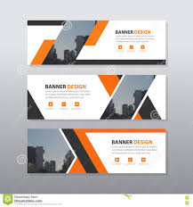 Business Banner Design Orange Black Abstract Corporate Business Banner Template Horizontal