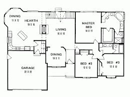 ranch house floor plans. Level 1 Ranch House Floor Plans T