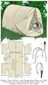 homemade shoulder pack tent
